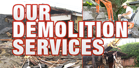 Some of our Demolition Services